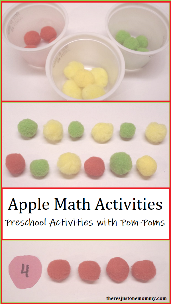 preschool apple math activities