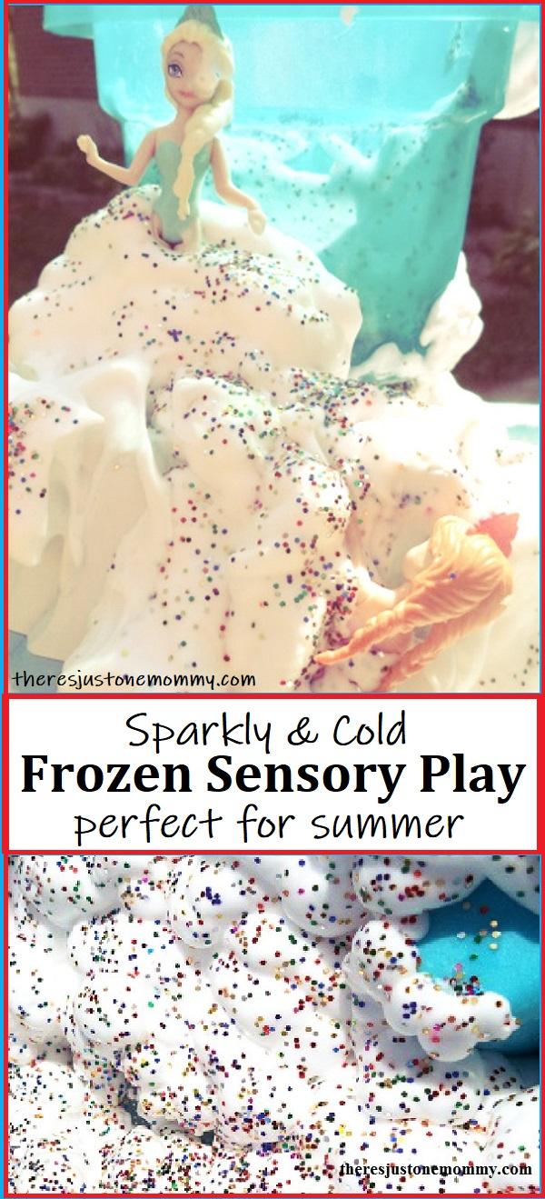 sensory activity with shaving cream and ice