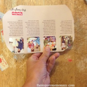 using magazine pages to make a butterfly