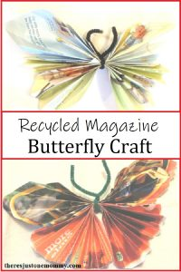 butterfly craft for kids using recycled magazines