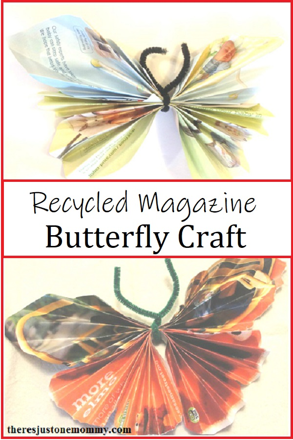 butterfly craft for kids -- simple recycled craft idea