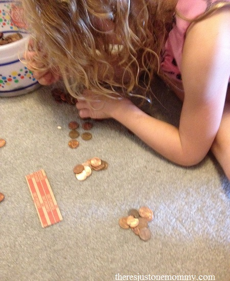 Practicing Counting Skills with Pennies