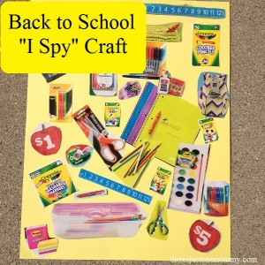 Back to School Craft -- Create your own I Spy Collage!