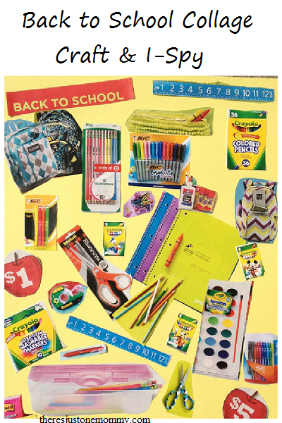 Back to School Collage -- fun craft that becomes an I-Spy game