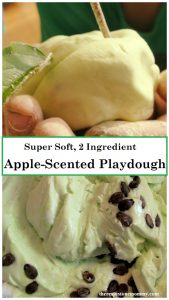 apple-scented playdough -- super simple, soft homemade playdough perfect for fall