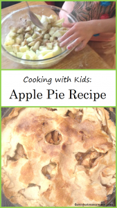 apple pie recipe -- simple apple pie recipe that is perfect for cooking with kids; sweet ending to apple unit