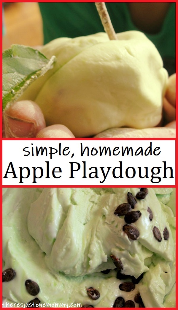 Apple Scented Playdough There S Just One Mommy