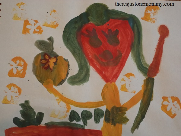 kids apple craft
