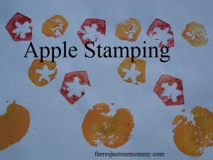Apple Stamping -- the perfect fall craft for kids
