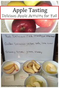 kids activity tasting and comparing different apples