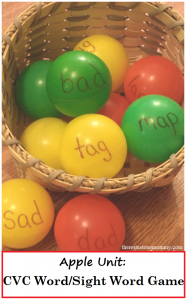 Apple-Themed CVC and Sight Word Game