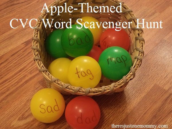 Apple-Themed CVC Word Scavenger Hunt
