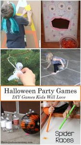 DIY Halloween party games for kids -- perfect for kids Halloween party