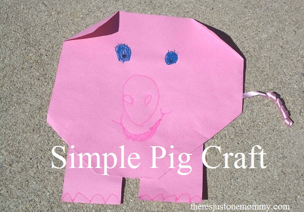 simple pig craft