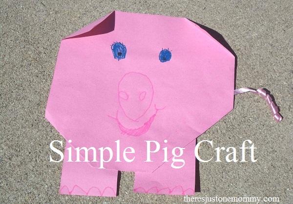simple pig craft