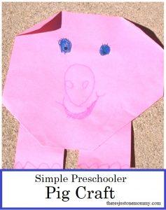 simple pig craft for preschoolers