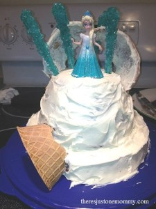Decorating a Disney Frozen Birthday Cake Theres Just One Mommy
