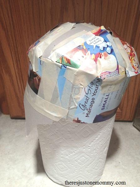 building a cardboard helmet