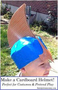 how to make a cardboard helmet
