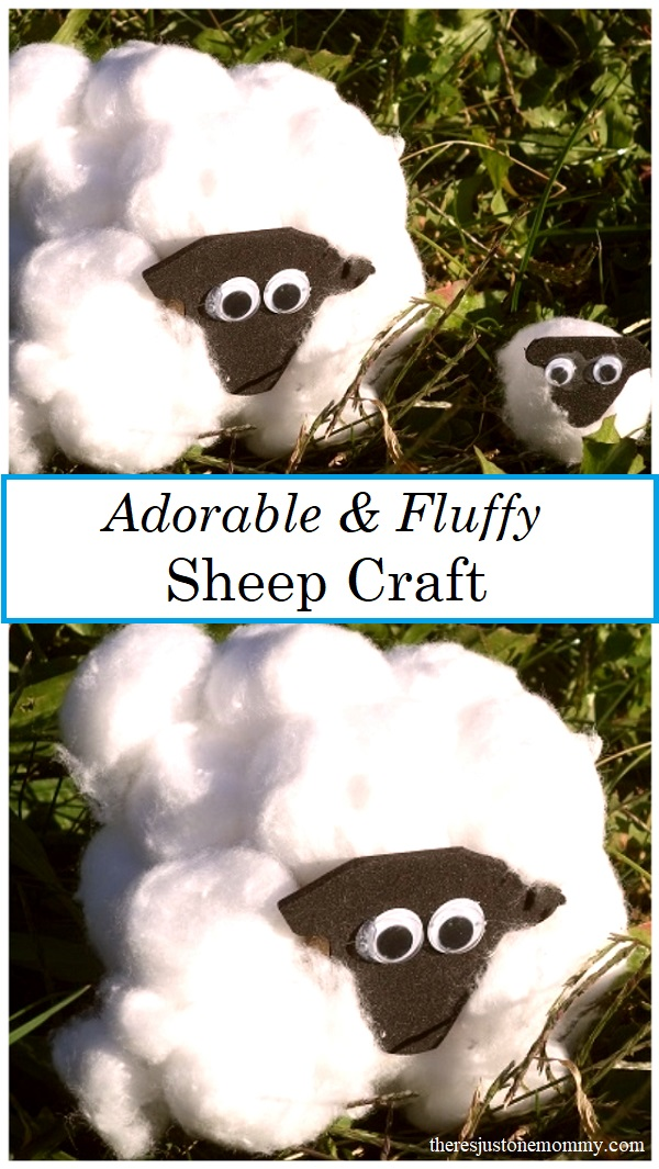 cardboard tube sheep craft -- fluffy sheep craft with cotton balls