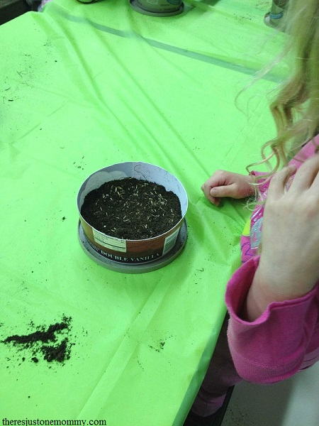 planting seeds for Welcome to the Flower Garden