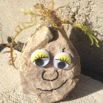 Frozen themed rock troll craft -- camp craft idea
