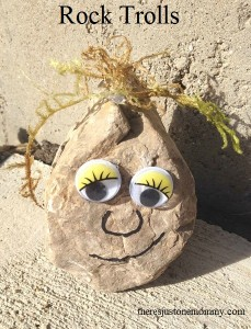 Frozen-themed Craft:  Rock Trolls
