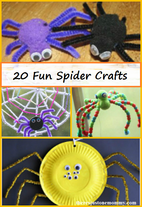 20 fun spider crafts -- kids spider craft ideas