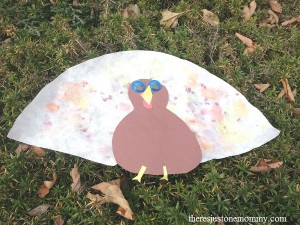 turkey craft using coffee filter