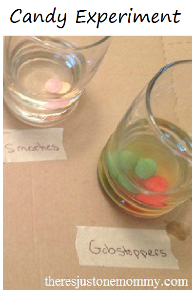 Dissolving candy experiment -- perfect for that Halloween candy!