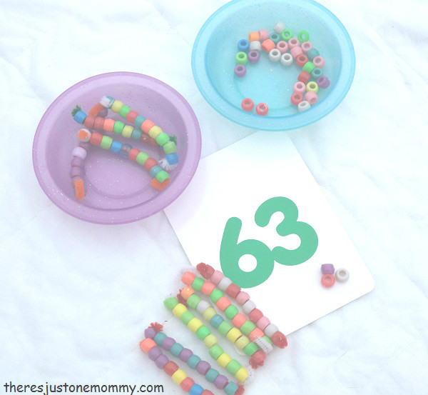 DIY base 10 math manipulatives