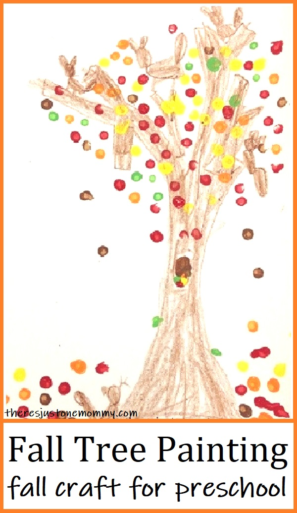 colorful fall tree craft for preschoolers