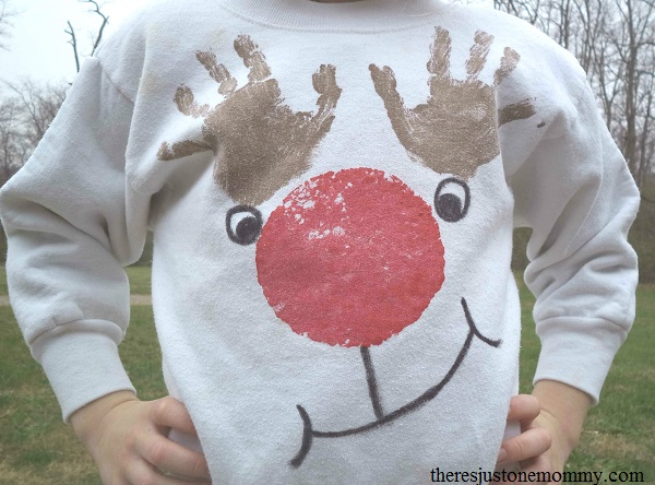 hand print reindeer craft