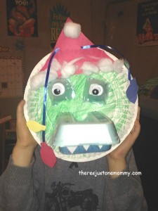 Christmas Crocodile Craft