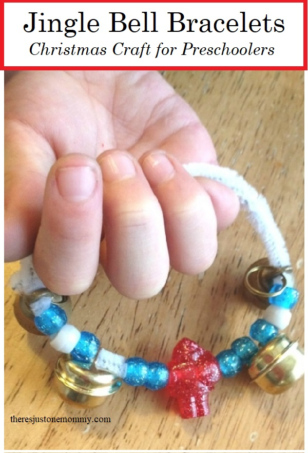 make a jingle bell bracelet -- preschool Christmas craft idea
