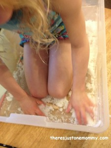 fake snow sensory play