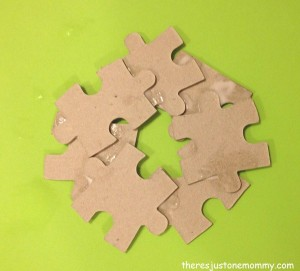 how to make a puzzle piece wreath