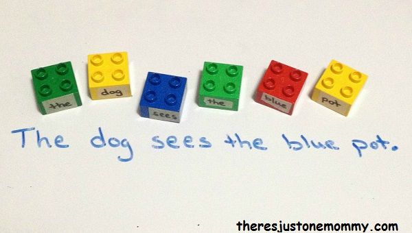 learning with Legos: using Lego blocks to work on sentence structure