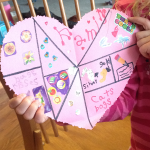 simple heart collage craft