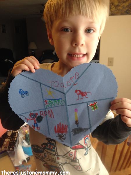 Heart collage craft
