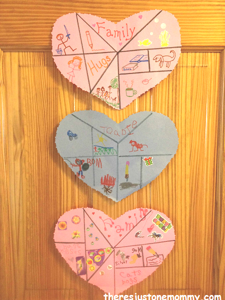 Heart Collage Craft for kids