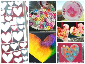 heart sun catcher crafts