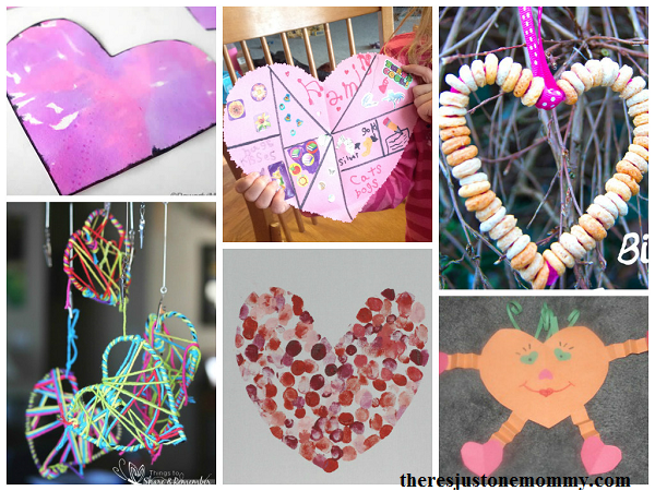 collection of kids heart crafts