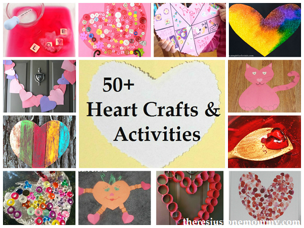 over 50 awesome heart crafts and activities for kids