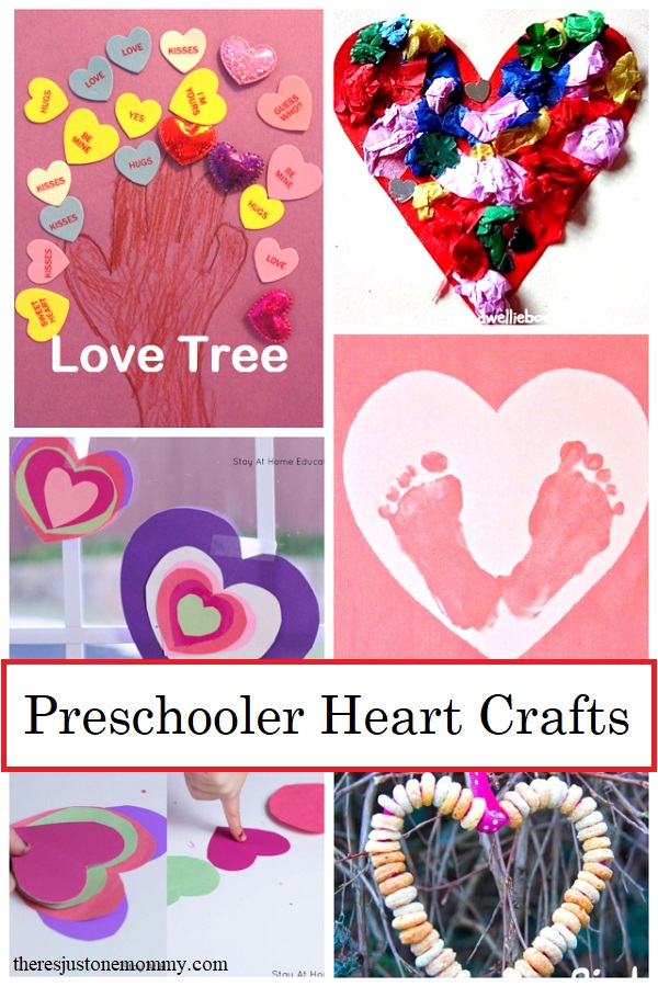 Valentine's Day Heart crafts for preschoolers