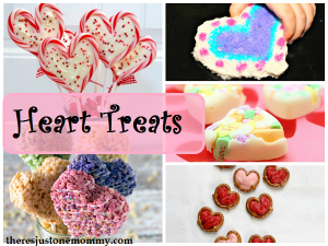 tasty heart treats for Valentine's Day
