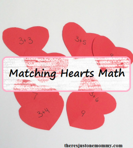 matching hearts math activity