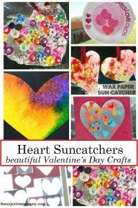 suncatcher crafts for Valentine's Day