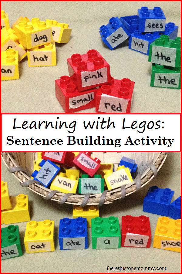 photograph about Sentence Building Games Printable named Lego Sentence Coming up with Theres Exactly A single Mommy