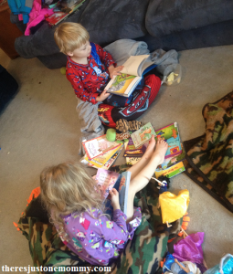 making reading fun with a cozy reading spot